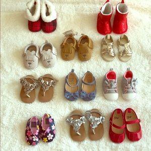 GAP, Gymboree, Carter's 0-12 months baby shoes